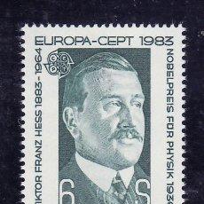 Sellos: AUSTRIA 1983 IVERT 1572 *** EUROPA - VICTOR FRANZ - PERSONAJES. Lote 103947823