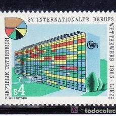 Sellos: AUSTRIA 1983 IVERT 1576 *** 27º CONCURSO INTERNACIONAL DE OFICIOS - LINZ - ARQUITECTURA. Lote 103948379