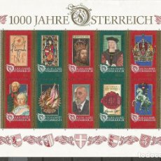 Sellos: AUSTRIA YVERT NUM. 2024/2033 ** SERIE COMPLETA SIN FIJASELLOS MILENARIO DE AUSTRIA. Lote 237543765
