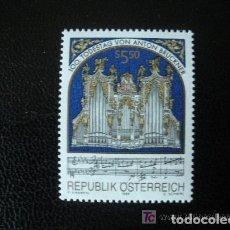 Sellos: AUSTRIA 1996 IVERT 2013 *** CENTENARIO MUERTE DEL ORGANISTA Y COMPOSITOR ANTON BRUCKNER - MUSICA. Lote 213261011