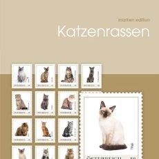 Sellos: AUSTRIA 2018 - MARKEN EDITION 20 SELBSTKLEBEND - KATZENRASSEN. Lote 109568611