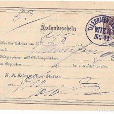Sellos: SELLOS AUSTRIA FORMULARIO DE TELEGRAFOS FILATELIA HISTORIA POSTAL. Lote 109942675