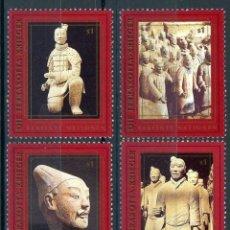Sellos: NACIONES UNIDAS VIENA 1997 IVERT 259/64 *** GUERREROS ARCILLA DE XIAN - MAUSOLEO 1º EMPERADOR CHINO . Lote 112553451