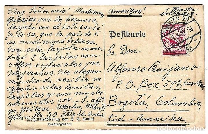 Sellos: Antigua postal con grabado al Buril del ayuntamiento de Viena - Foto 2 - 113009879