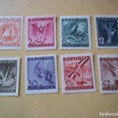 Sellos: SET SELLOS AUSRTIA 1946 ESVASTICA FIN TERSER REICH CON GOMA. Lote 114842203