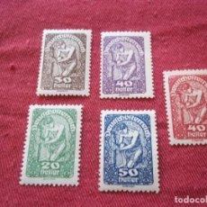 Sellos: SET SELLOS ANTIGUO AUSTRO - HUNGRIA IMPERIO 1919 CON GOMA. Lote 115724587