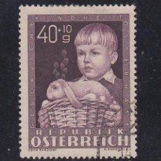 Sellos: AUSTRIA 765 USADA, EN BENEFICIO DE LAS OBRAS PARA LA INFANCIA . Lote 117011795