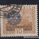 Sellos: AUSTRIA 398A USADA, CONGRESO DEL ROTARY INTERNACIONAL EN VIENA, . Lote 117012547