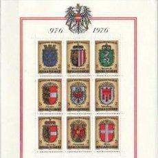 Sellos: SELLOS - AUSTRIA 1976 ESCUDO DE ARMAS BL. MNH. Lote 128484123