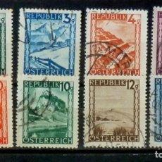 Sellos: AUSTRIA -8 SELLOS TURISMO . Lote 133419466