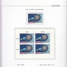 Sellos: AUSTRIA 2002 - AÑO COMPLETO EN HOJAS DE ALBUM (VER LAS 6 IMAGENES). Lote 133843594