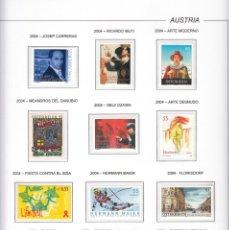 Sellos: AUSTRIA 2004 - AÑO COMPLETO EN HOJAS DE ALBUM (VER LAS 5 IMAGENES). Lote 133848926