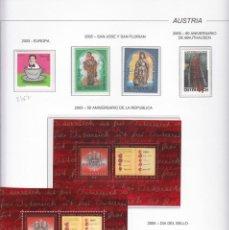 Sellos: AUSTRIA 2005 - AÑO COMPLETO EN HOJAS DE ALBUM (VER LAS 9 IMAGENES). Lote 133850318