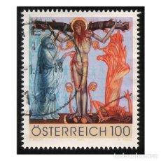Sellos: AUSTRIA 2009. MI 2830, YT 2658. TRIPTICO DEL ROSARIO. SCHMERZHAFTE. USADO. Lote 142569242