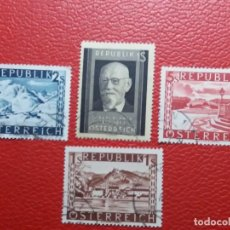 Sellos: 4 SELLOS REPUBLICA OSTERREICH. USADOS. AÑO 1950. Lote 144458098