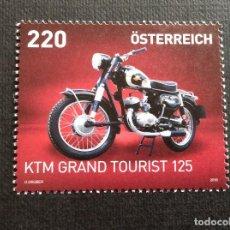 Sellos: AUSTRIA AÑO 2018. MOTO KTM R 125 GRAN TURISMO. Lote 147405990