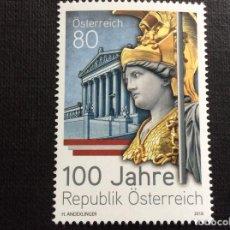 Sellos: AUSTRIA AÑO 2018. CENTENARIO DE LA REPUBLICA DE AUSTRIA . Lote 147656418