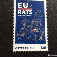 Sellos: AUSTRIA AÑO 2018. PRESIDENCIA DEL CONSEJO DE LA UNION EUROPEA. Lote 147656506
