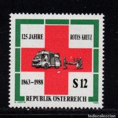 Sellos: AUSTRIA 1750** - AÑO 1988 - 125º ANIVERSARIO DE LA CRUZ ROJA. Lote 150397334