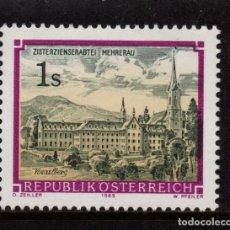 Sellos: AUSTRIA 1796** - AÑO 1989 - ABADIA DE WETTINGEN MEHRERAU. Lote 150399534