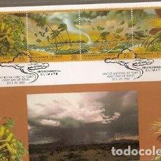 Sellos: NACIONES UNIDAS & MAXI, FAUNA, AMBIENTE, CLIMA, ONU VIENA 1993 (140). Lote 150525694