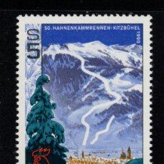 Sellos: AUSTRIA 1807** - AÑO 1990 - 50º ANIVERSARIO DEL CAMPEONATO DE ESQUI DE HAHNENKAMM. Lote 151110366