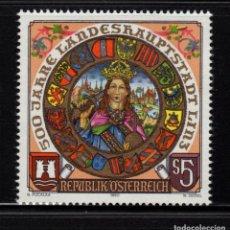 Sellos: AUSTRIA 1812** - AÑO 1990 - 500º ANIVERSARIO DE LA CIUDAD DE LINZ. Lote 151110546