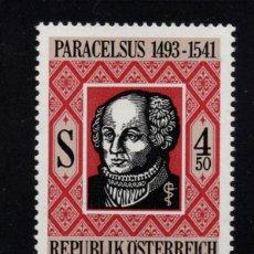 Sellos: AUSTRIA 1868** - AÑO 1991 - 450º ANIVERSARIO DE LA MUERTE DE PARACELSO. Lote 151113198