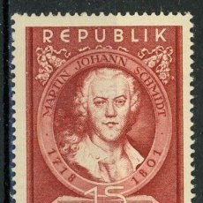 Sellos: AUSTRIA 1951 IVERT 799 *** 150 ANIVERSARIO MUERTE PINTOR MARTIN JOHANN SCHMIDT - PERSONAJES. Lote 153699906