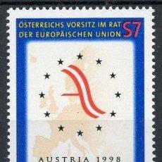 Sellos: AUSTRIA 1998 IVERT 2090 *** PRESIDENCIA AUSTRIACA DE LA COMUNIDAD EUROPEA. Lote 157007770