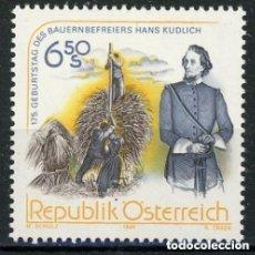 Sellos: AUSTRIA 1998 IVERT 2095 *** 175º ANIVERSARIO DEL NACIMIENTO DEL LITERATO HANS KUDLICH. Lote 157008058