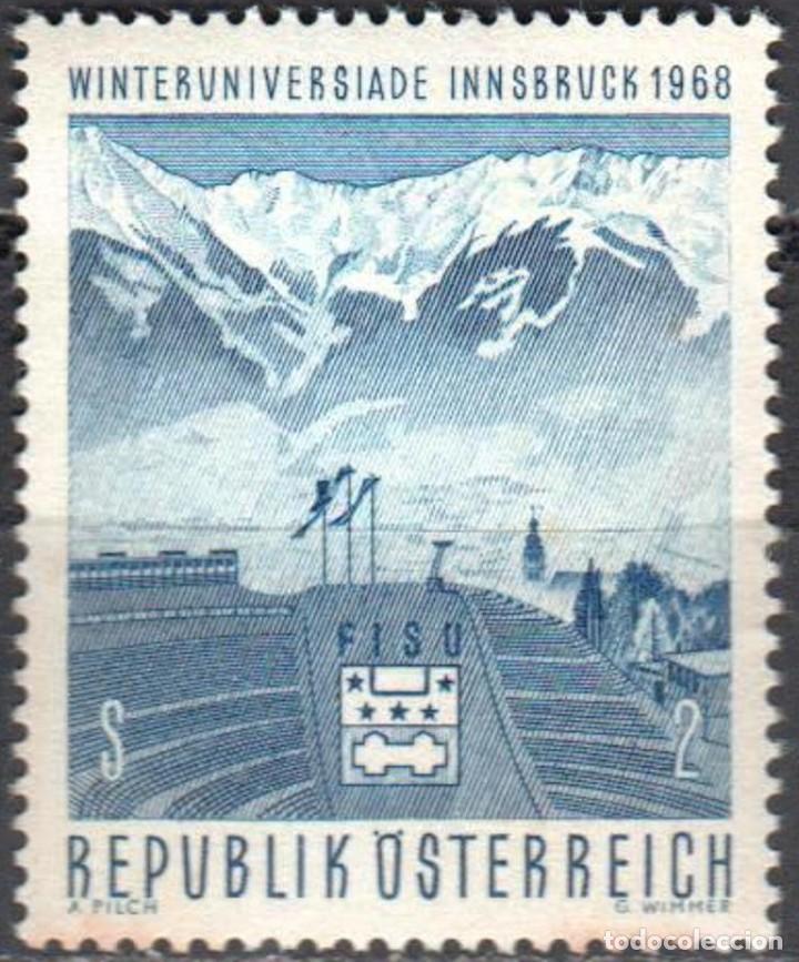 AUSTRIA - UN SELLO - IVERT #1090 - ***JUEGOS DE IVIERNO INNSBRUCK*** - AÑO 1968 - NUEVO SIN GOMA (Sellos - Extranjero - Europa - Austria)