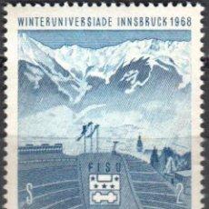 Sellos: AUSTRIA - UN SELLO - IVERT #1090 - ***JUEGOS DE IVIERNO INNSBRUCK*** - AÑO 1968 - NUEVO SIN GOMA. Lote 157798022