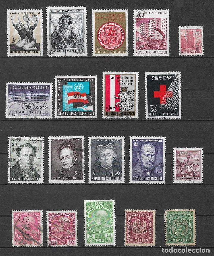 Austria lote 19 sellos usados x 0.03 - 4/46 - Vendido en