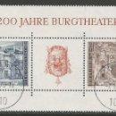Sellos: AUSTRIA - 200 ANIVERSARIO DE BURGTEATRO DE VIENNA - 1776 - 1976 - TIENE ADHESIVO ORIGINAL DETRÁS. Lote 160860262