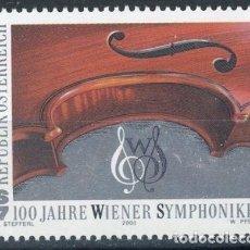 Sellos: AUSTRIA 2000 IVERT 2158 *** CENTENARIO DE LA ORQUESTA SINFÓNICA DE VIENA - MÚSICA. Lote 161683502