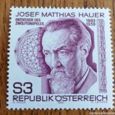 Sellos: AUSTRIA : Nº 1562 MNH, MÚSICA, COMPOSITORES, AÑO 1983. Lote 163076229