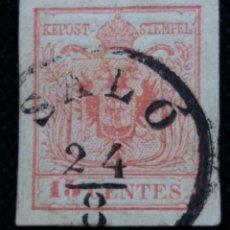 Sellos: SELLO AUSTRIA, OSTERREICH, LOMBARDIA, VENECIA 15 CENTES 1850. Lote 163407846