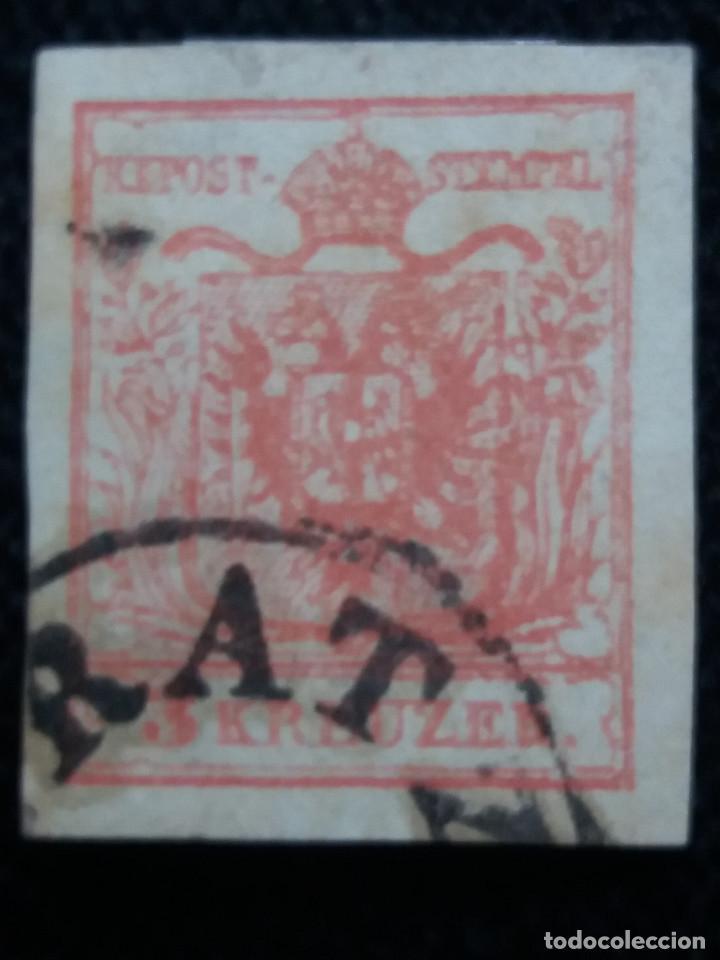 SELLO AUSTRIA, OSTERREICH, LOMBARDIA, VENECIA, 3 KREUZER 1850 (Sellos - Extranjero - Europa - Austria)