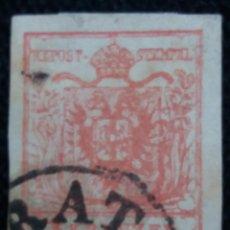 Sellos: SELLO AUSTRIA, OSTERREICH, LOMBARDIA, VENECIA, 3 KREUZER 1850. Lote 163408470