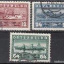 Sellos: AUSTRIA. 1937 YVERT Nº 496 / 498 . Lote 163520878