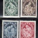 Sellos: AUSTRIA. 1937 YVERT Nº 499 / 502 /*/. Lote 163523658