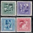 Sellos: AUSTRIA. 1936 YVERT Nº 485 / 488 /*/. Lote 163523798
