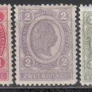 Sellos: AUSTRIA. 1899-1902 YVERT Nº 77, 78, 79, /*/ . Lote 163527590