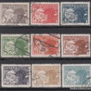 Sellos: AUSTRIA. AÉREO. 1925-30 YVERT Nº 12, 13, 14, 15, 16, 20, 21, 22, 24,. Lote 163546298