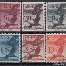 Sellos: AUSTRIA. AÉREO 1925-30 YVERT Nº 19, 22, 25, 27, 29, 31, . Lote 163546634