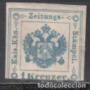 Sellos: AUSTRIA. TASA, PERIÓDICOS. 1853-77 YVERT Nº 1 TIPO III, /*/. Lote 163547346