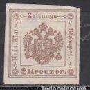 Sellos: AUSTRIA. TASA, PERIÓDICOS. 1853-77 YVERT Nº 3 TIPO III, (*). Lote 163547534