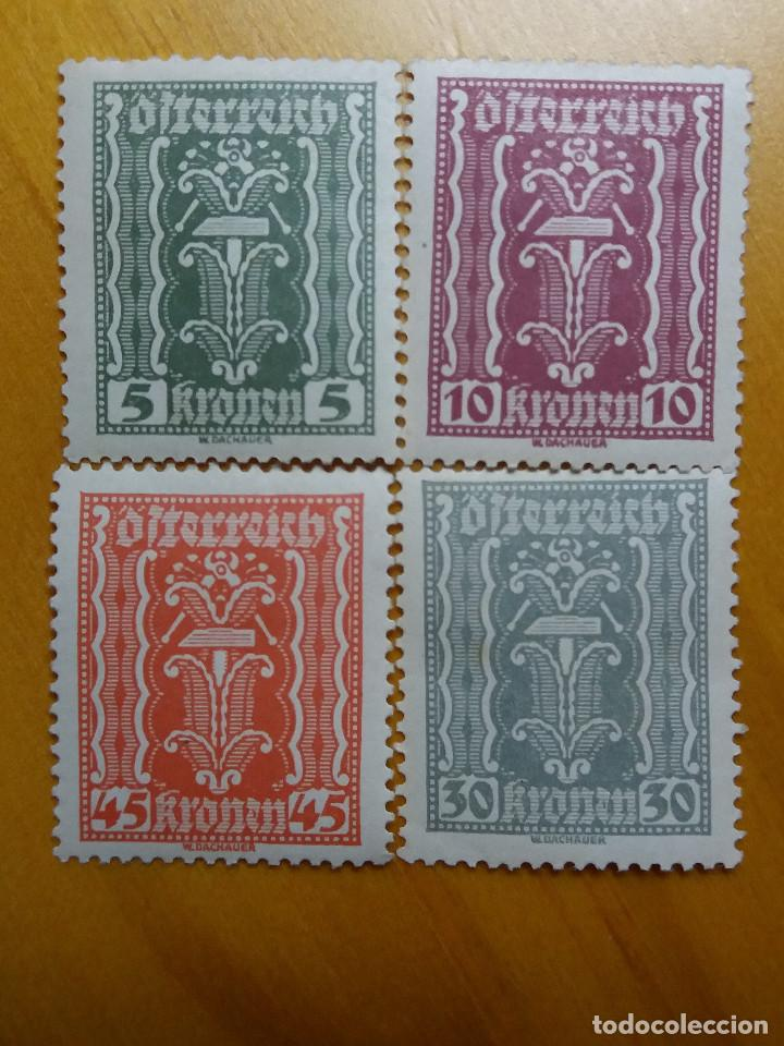 AUSTRIA, OSTERREICH, 5-10-45-30 KRONENE AÑO 1922. NUEVOS (Sellos - Extranjero - Europa - Austria)