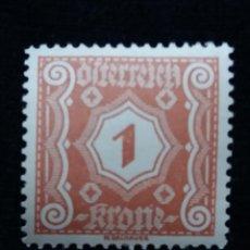 Sellos: AUSTRIA, OSTERREICH, 1 KRONE, AÑO 1923. NUEVO. Lote 165379854